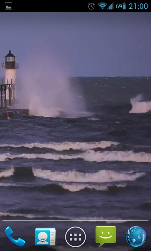 Lighthouse in stormy waves hd android apps on google play - Lighthouse live wallpaper ...