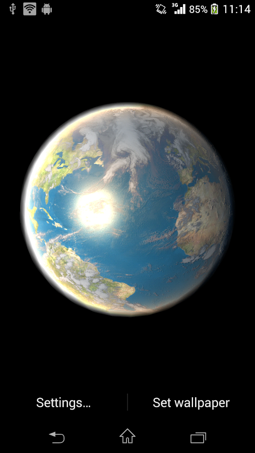 Earth Live Wallpaper - screenshot