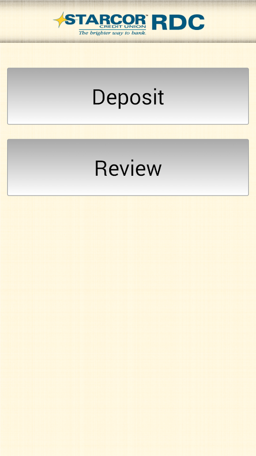 Starcor Remote Deposit Capture- screenshot