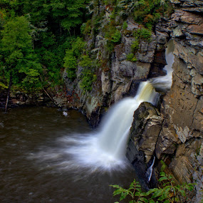 Linville Falls by William Bentley Jr. - Landscapes Waterscapes