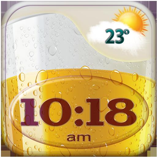 Beer Weather Clock Widget