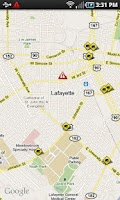 Screenshot of Lafayette Traffic