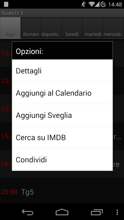 Guida Tv 2 PRO - screenshot