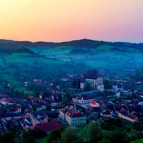 morning of Biertan by Nicu Hoandra - Landscapes Mountains & Hills ( spring colours hills )