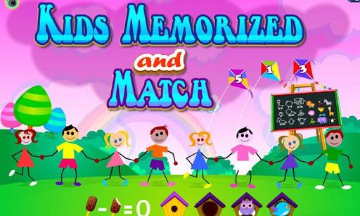孩子配对游戏 - 记忆