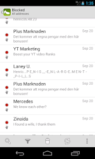 SpamDrain - email spam filter - screenshot thumbnail