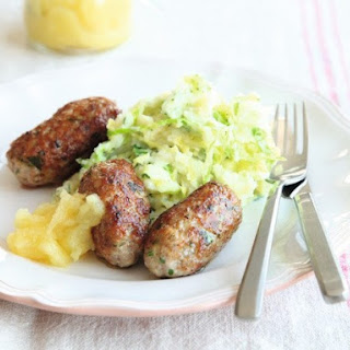 Rachel Allen's Homemade Pork Sausages with Colcannon and Applesauce