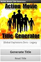 Screenshot of Action Movie Title Generator