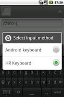 Screenshot of Croatian keyboard