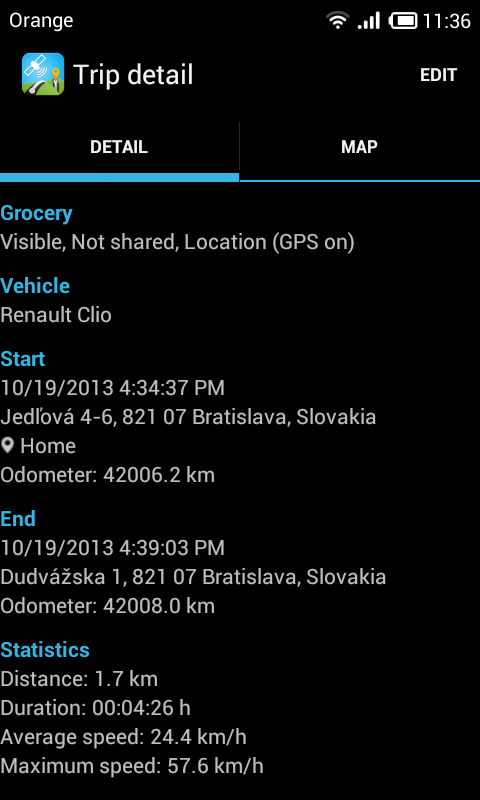 Mileage LogBook & GPS Tracker - screenshot