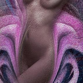 LILA by Carmen Velcic - Digital Art People ( abstract, rose, body, woman, she, lady, flowers, digital )