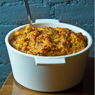 Cornbread Dressing with Sage and Black Pepper.