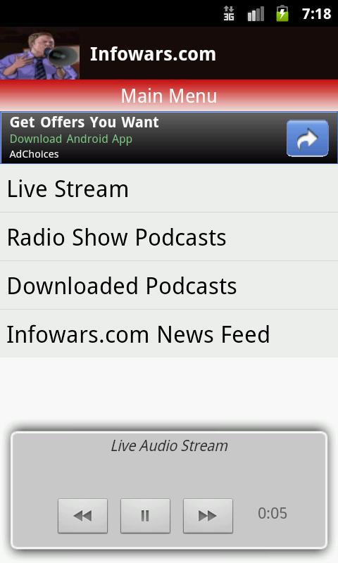 Alex Jones Multicast - screenshot