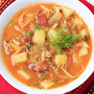 Cabbage Soup With Sausage & Potatoes.