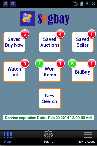 Segbay - eBay Alert Snipe