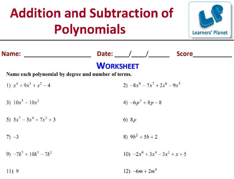 Math Worksheets Grade 9 Polynomials – Math Worksheets for Grade 9