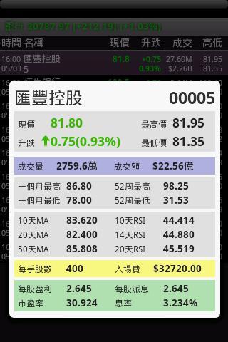 HKStock - screenshot