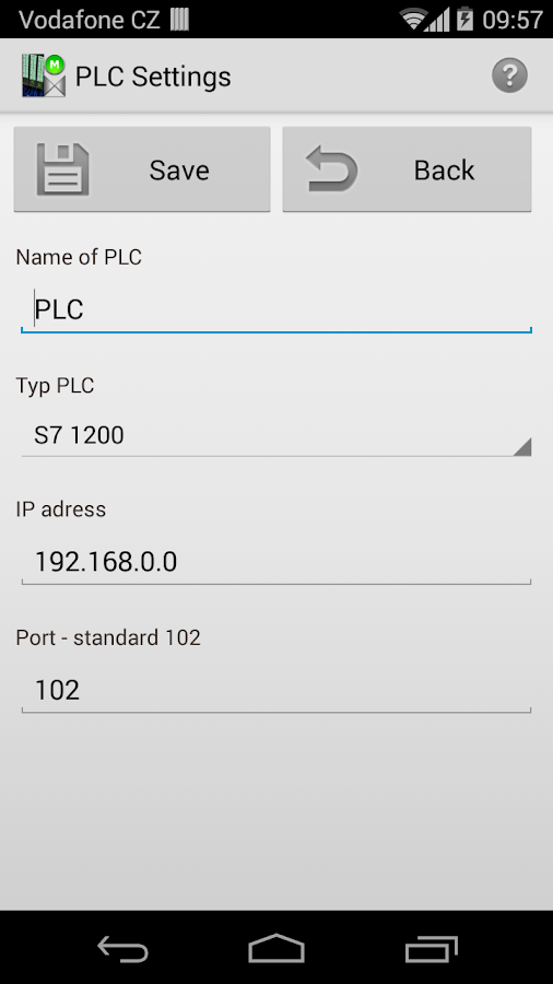 S7 PLC HMI Lite - screenshot