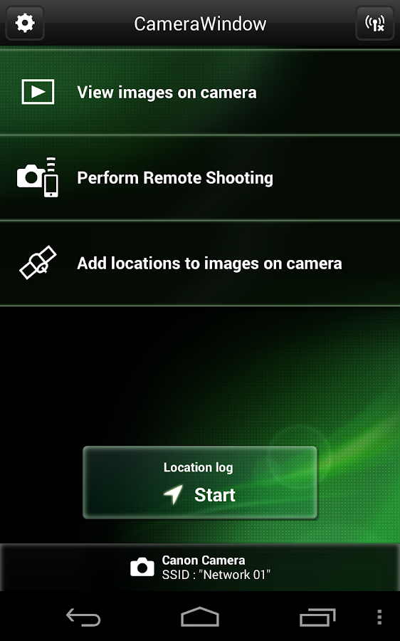 Canon CameraWindow- screenshot