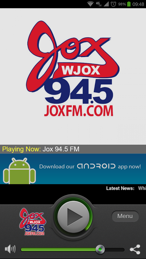 JOX 94.5 - screenshot