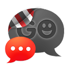 GO SMS THEME - Smooth Red icon