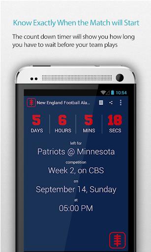 New England Football Alarm