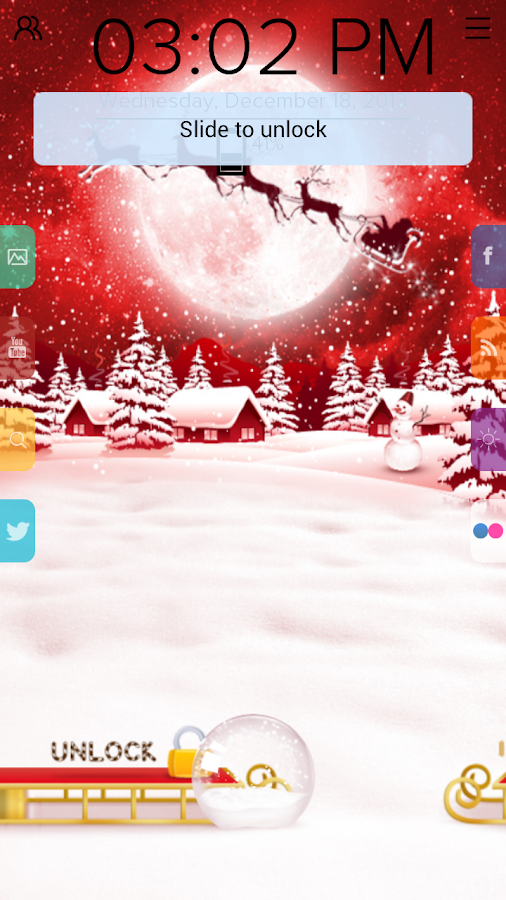 Christmas Deers - Start Theme - screenshot
