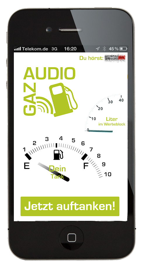 AudioGAZ – Screenshot