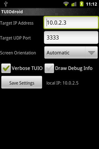 TUIOdroid - screenshot