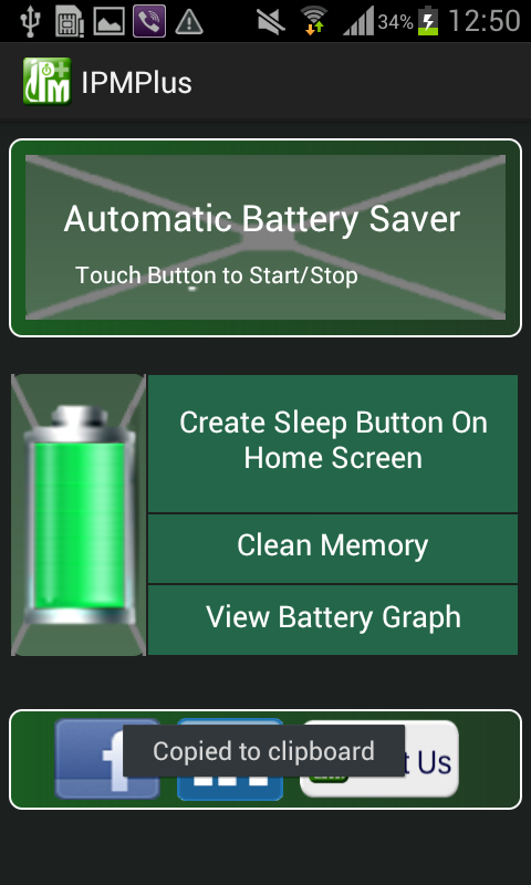 IPMPlus Battery Saver Widget - screenshot