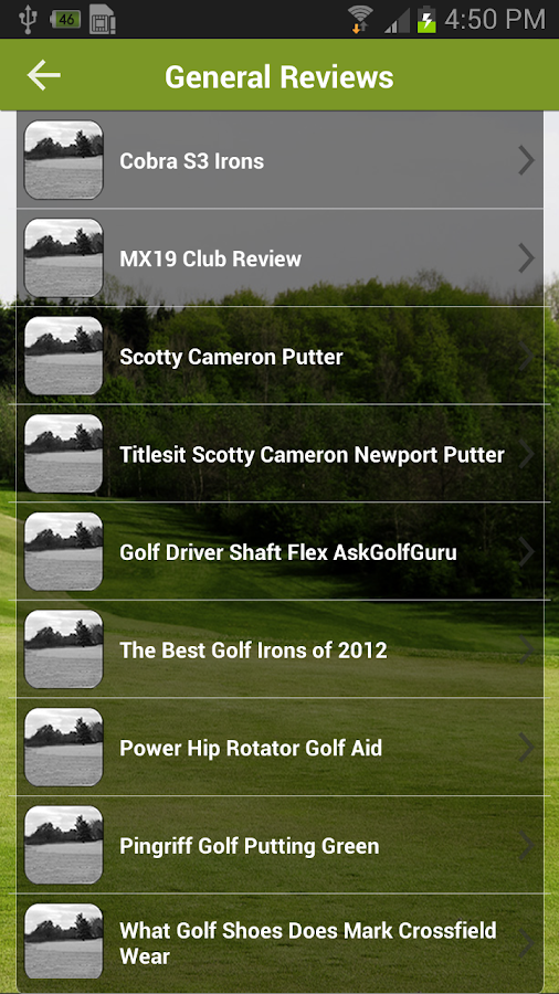Golf AskGolfGuru - screenshot
