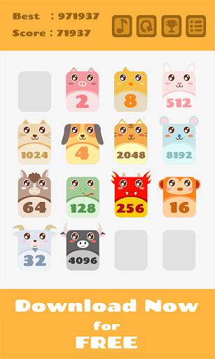2048 Animals Cat + Cat = Dog