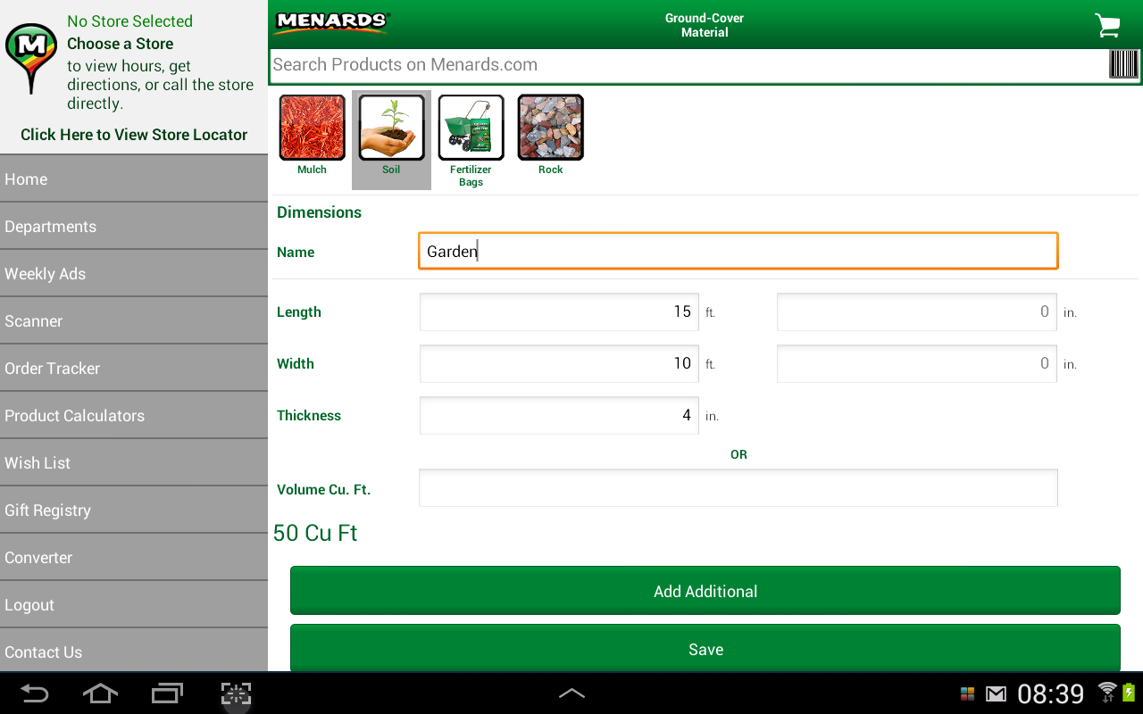 Menards® - screenshot