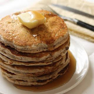 Whole Wheat Vegan Chia Seed Pancakes.
