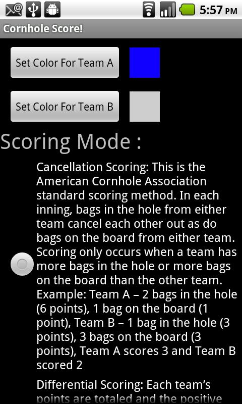 Cornhole Score!- screenshot