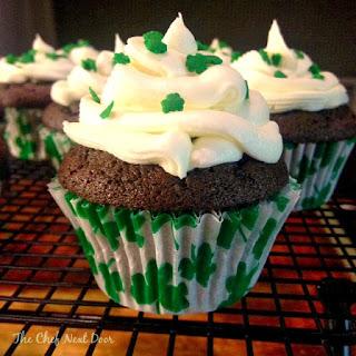 Chocolate Irish Cream Cupcakes with Irish Cream Buttercream Frosting