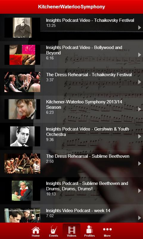 Kitchener Waterloo Symphony - screenshot