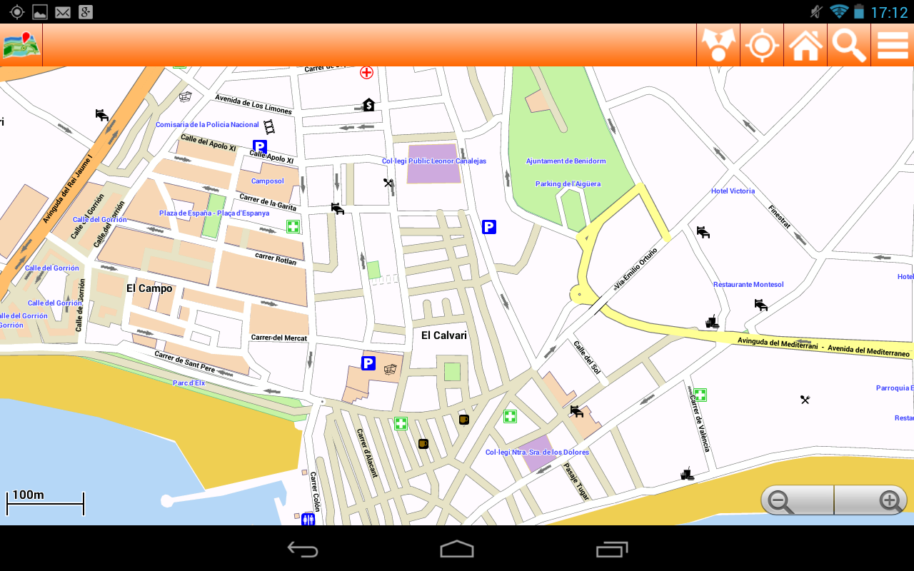 Benidorm Offline mappa Map  Google Play Store revenue  download
