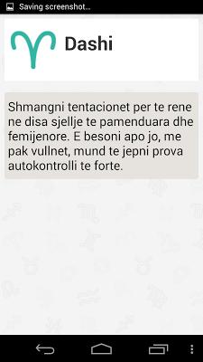 Horoskopi shqip - screenshot