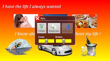 Screenshot of Vision Board Maker