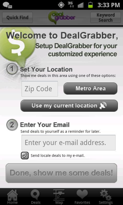 DealGrabber - screenshot