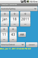 Screenshot of TimeZone Converter