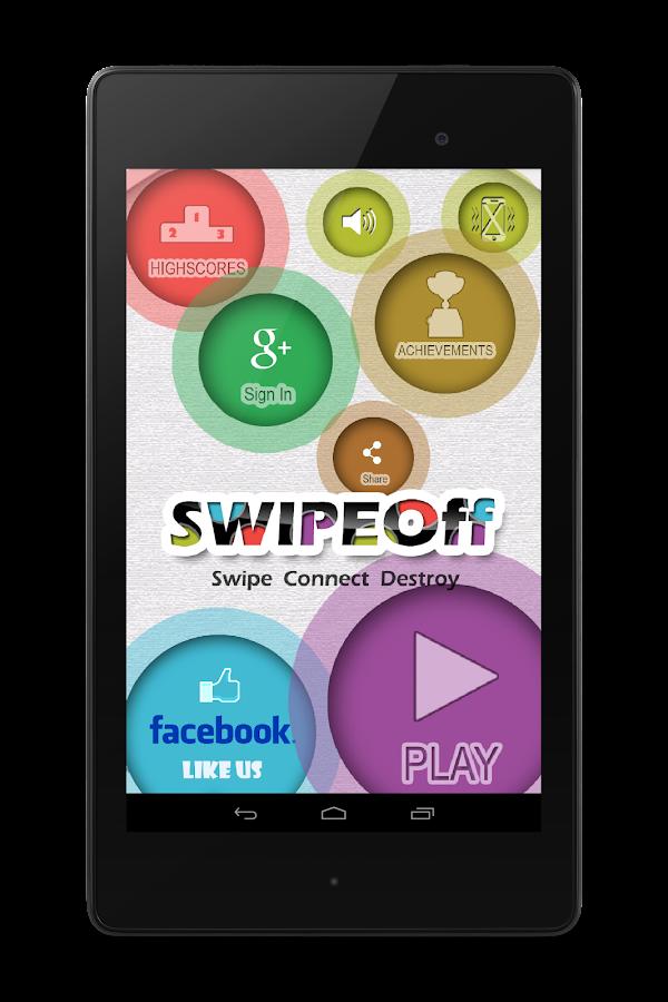 Swipe Off : a moving Dots Game- screenshot