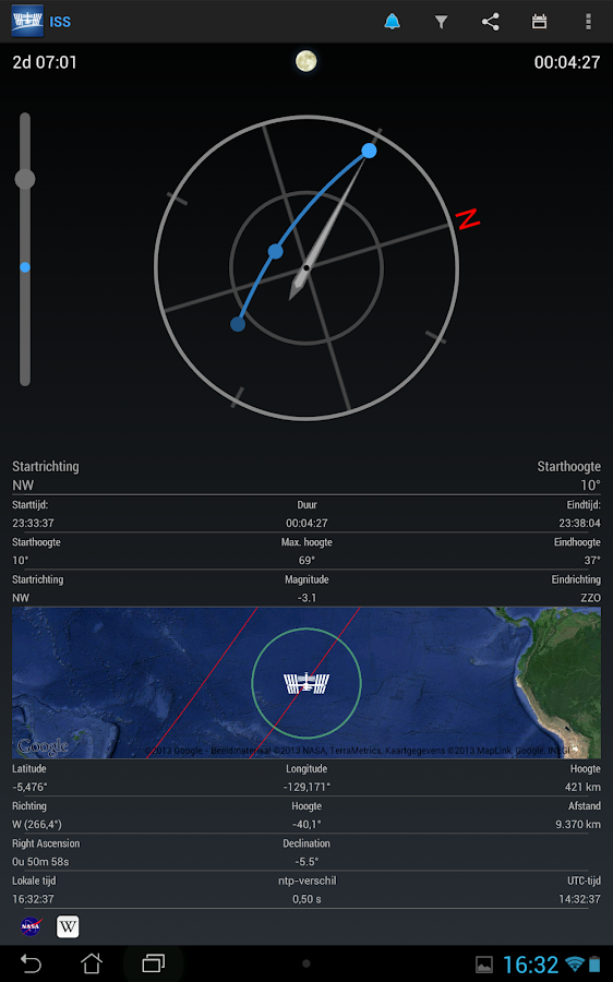 ISS Detector Satellite Tracker - screenshot