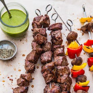 Steak Skewers with Chimichurri