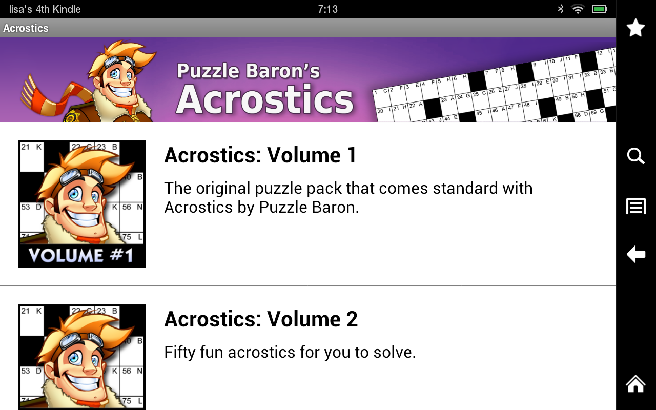 Acrostics Crossword Puzzles - screenshot