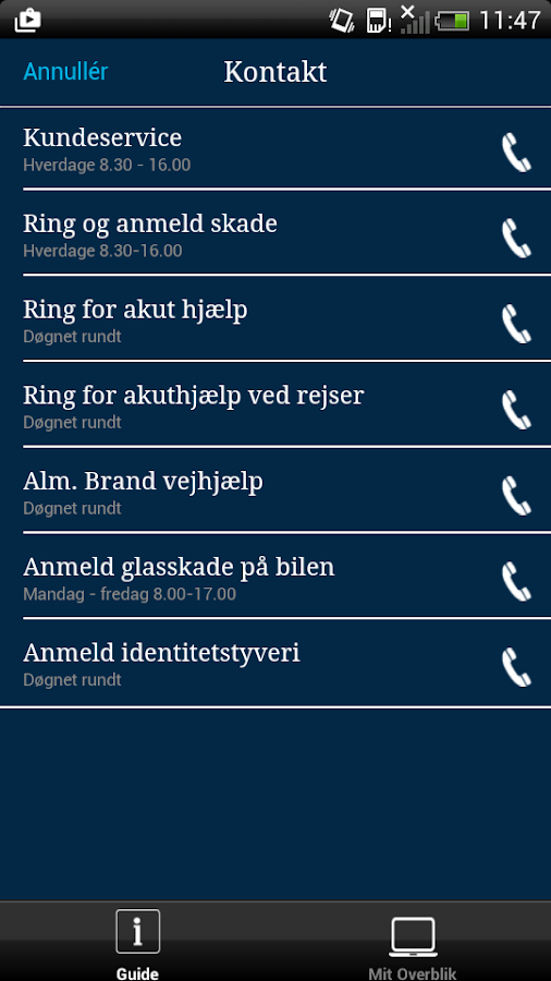 Alm. Brand Forsikring - screenshot
