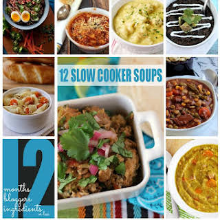 Slow Cooker Beef and Vegetable Soup #12bloggers.