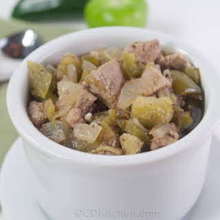 Slow Cooker Chili Verde With Tomatillos.