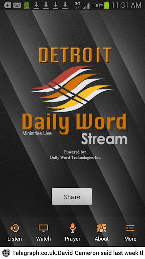Detroit Daily Word Stream App